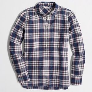 J Crew 1/2 button up